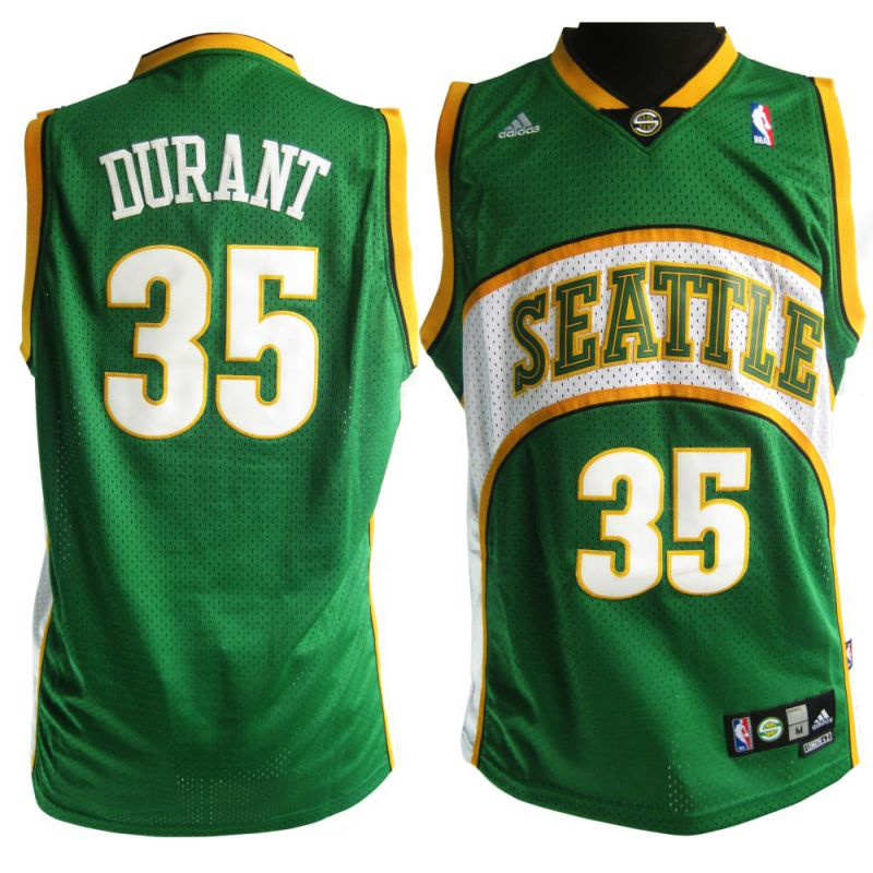 Supersonics 35 Durant Green Jerseys