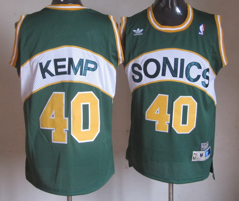 Supersonics 40 Kemp Green Jerseys