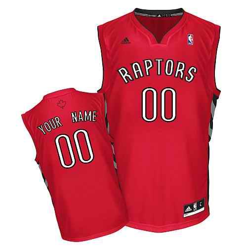 Toronto Raptors New Custom red adidas Road Jersey