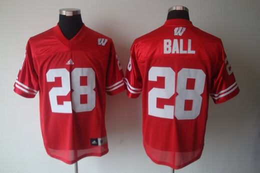 Wisconsin Badgers 28 Ball Red Jerseys