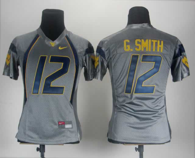Women West Virginia Mountaineers 12 G.Smith Grey Jerseys