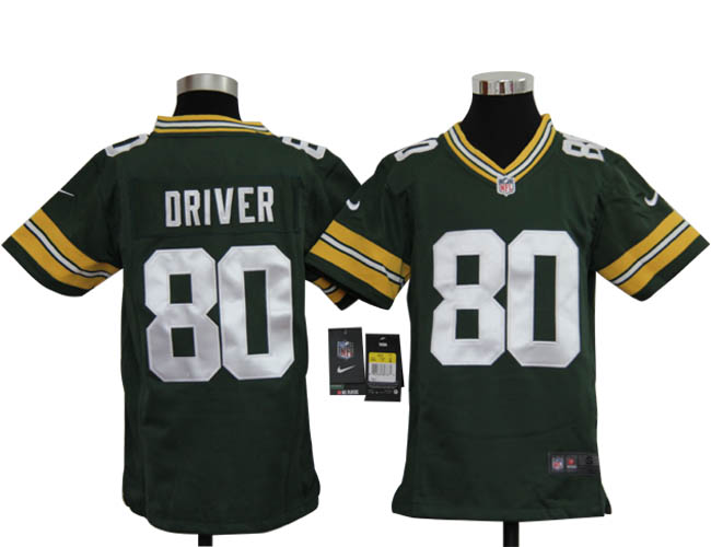 Youth Nike Packers 80 Driver green Jerseys