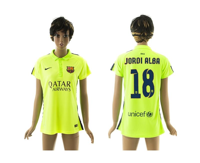 2014-15 Barcelona 18 Jordi Alba Third Away Women Jerseys