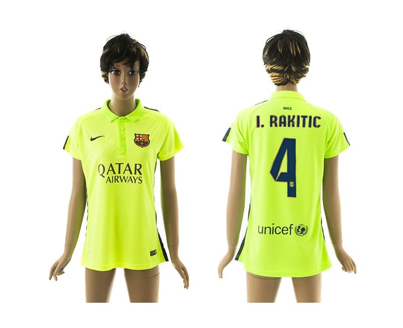 2014-15 Barcelona 4 I.Rakitic Third Away Women Jerseys
