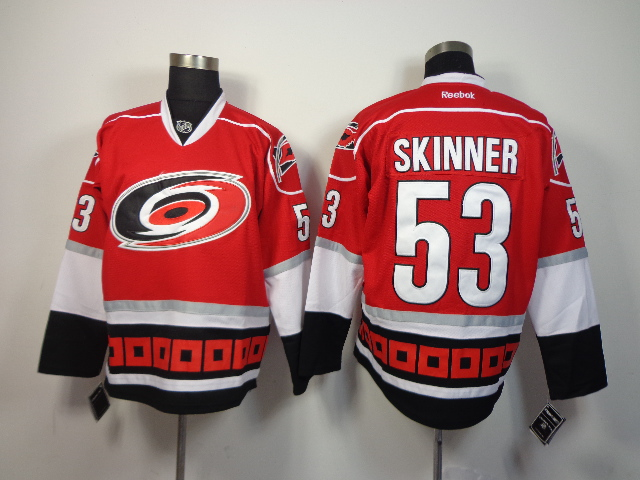 Hurricanes 53 Skinner Red New Jerseys