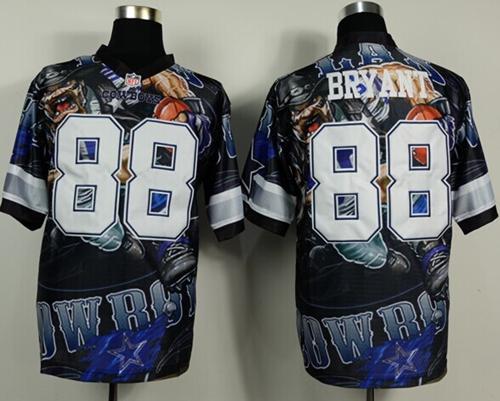 Nike Cowboys 88 Bryant Stitched Elite Fanatical Version Jerseys