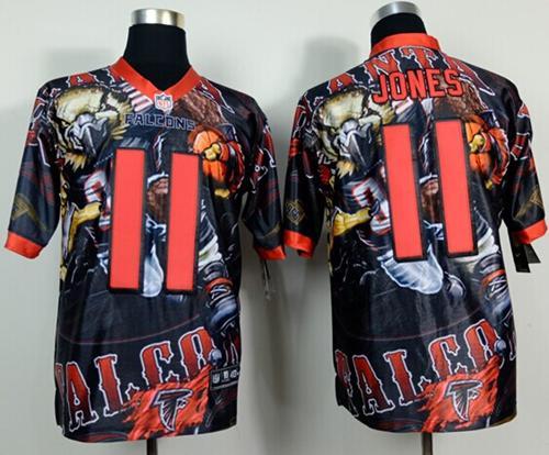 Nike Falcons 11 Jones Stitched Elite Fanatical Version Jerseys