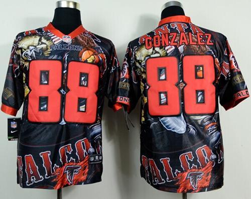 Nike Falcons 88 Gonzalez Stitched Elite Fanatical Version Jerseys
