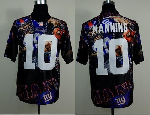 Nike Giants 10 Manning Stitched Elite Fanatical Version Jerseys