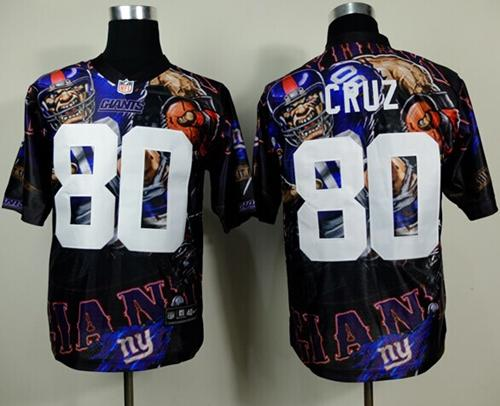Nike Giants 80 Cruz Stitched Elite Fanatical Version Jerseys