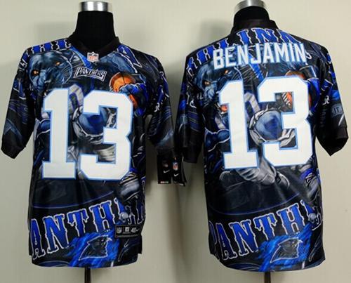 Nike Panthers 13 Benjamin Stitched Elite Fanatical Version Jerseys