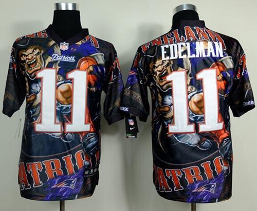 Nike Patriots 11 Edelman Stitched Elite Fanatical Version Jerseys