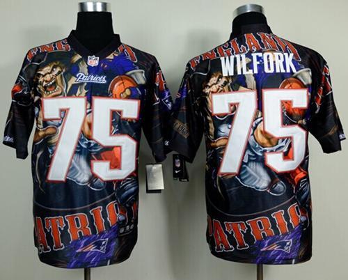 Nike Patriots 75 Wilfork Stitched Elite Fanatical Version Jerseys