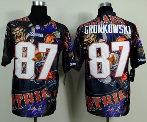Nike Patriots 87 Gronkowski Stitched Elite Fanatical Version Jerseys