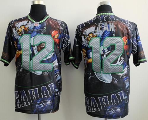 Nike Seahawks 12 Fan Stitched Elite Fanatical Version Jerseys