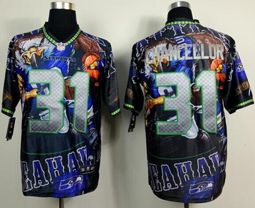 Nike Seahawks 31 Chancellor Stitched Elite Fanatical Version Jerseys