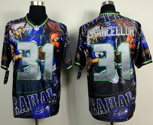 Nike Seahawks 31 Chancellor Stitched Elite Fanatical Version Jerseys
