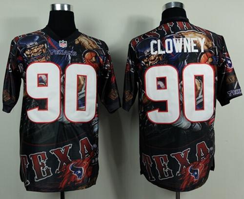 Nike Texans 90 Clowney Stitched Elite Fanatical Version Jerseys