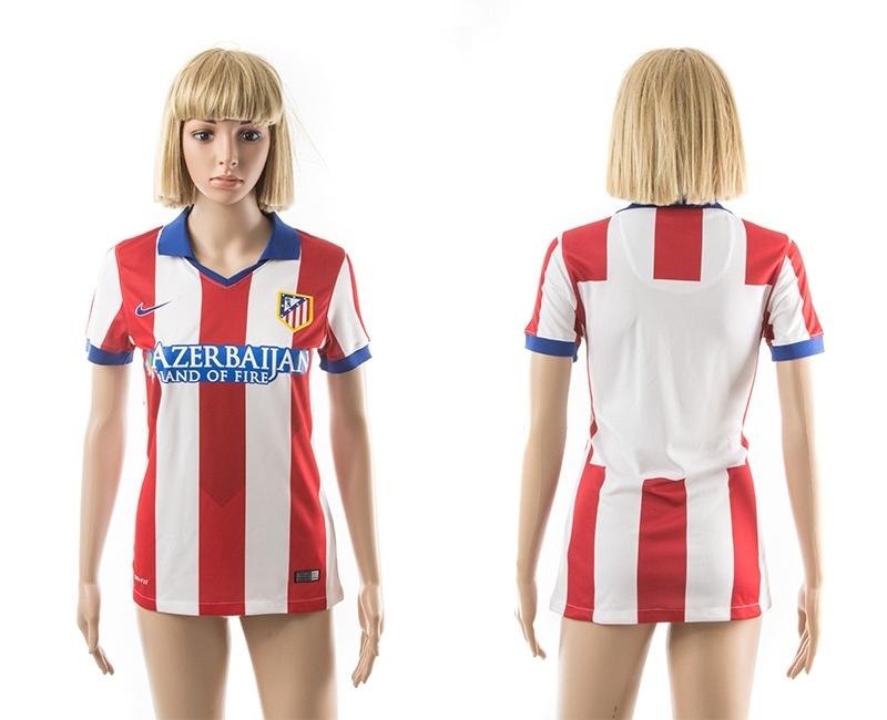 2014-15 Atletico Madrid Home Women Jerseys