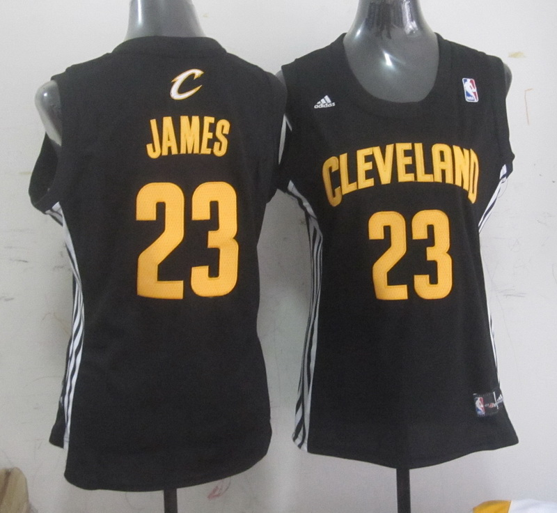 Cavaliers 23 James Black Women Jersey