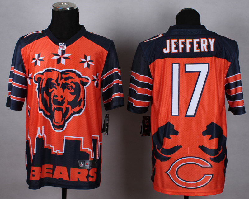 Nike Bears 17 Jeffery Noble Elite Jerseys