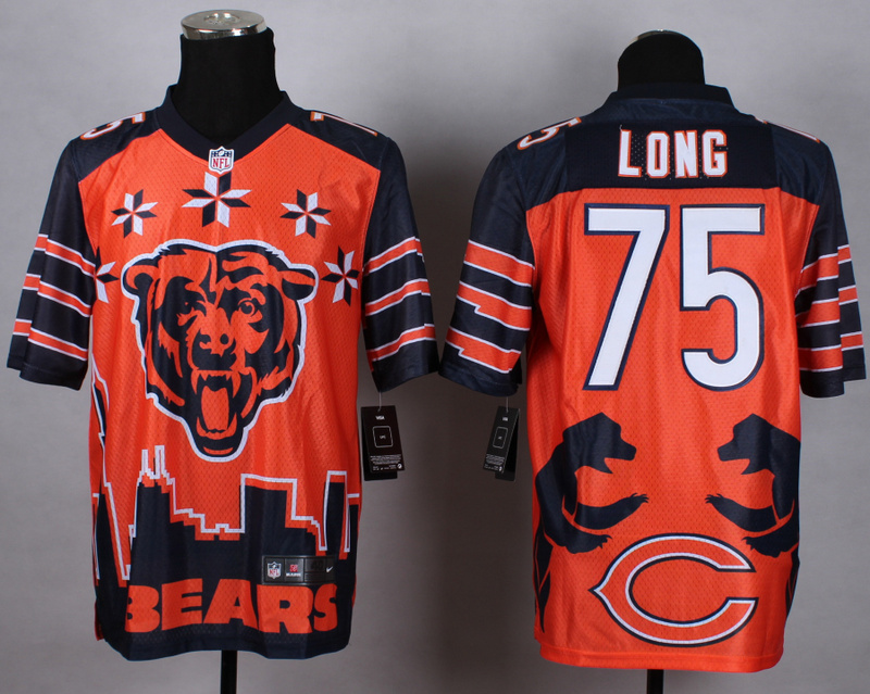 Nike Bears 75 Long Noble Elite Jerseys