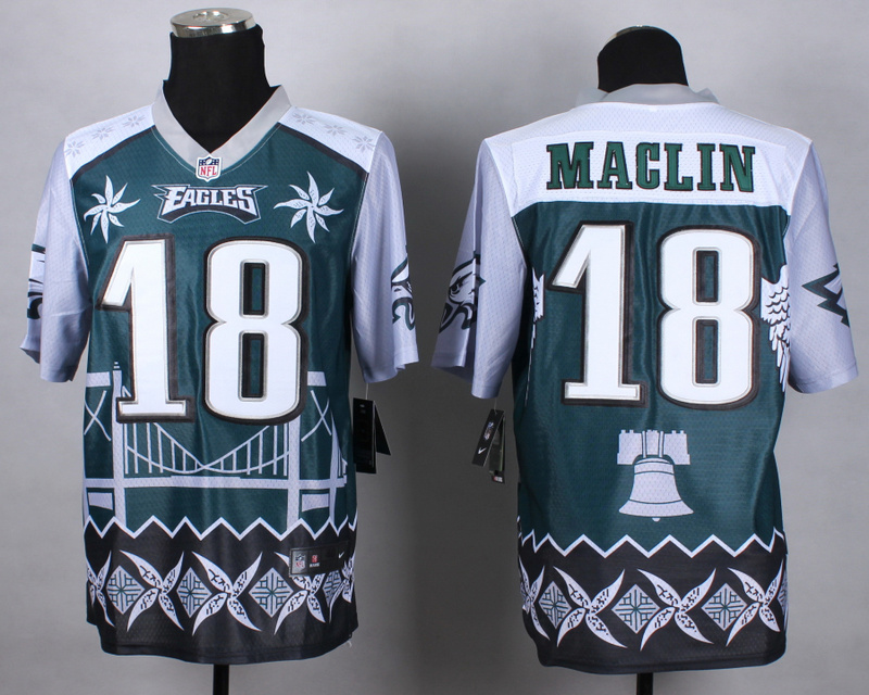Nike Eagles 18 Maclin Noble Elite Jerseys