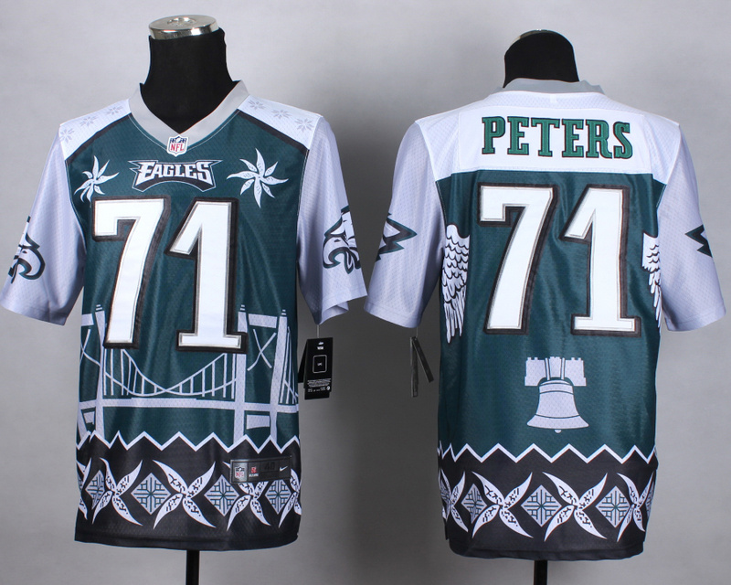 Nike Eagles 71 Peters Noble Elite Jerseys
