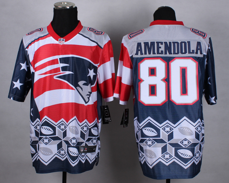 Nike Patriots 80 Amendola Noble Elite Jerseys