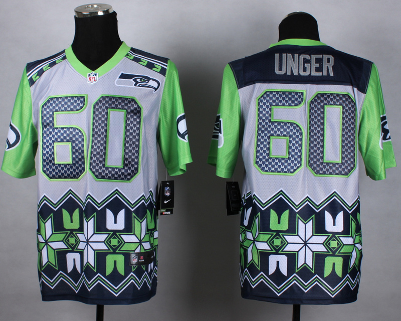 Nike Seahawks 60 Unger Noble Elite Jerseys