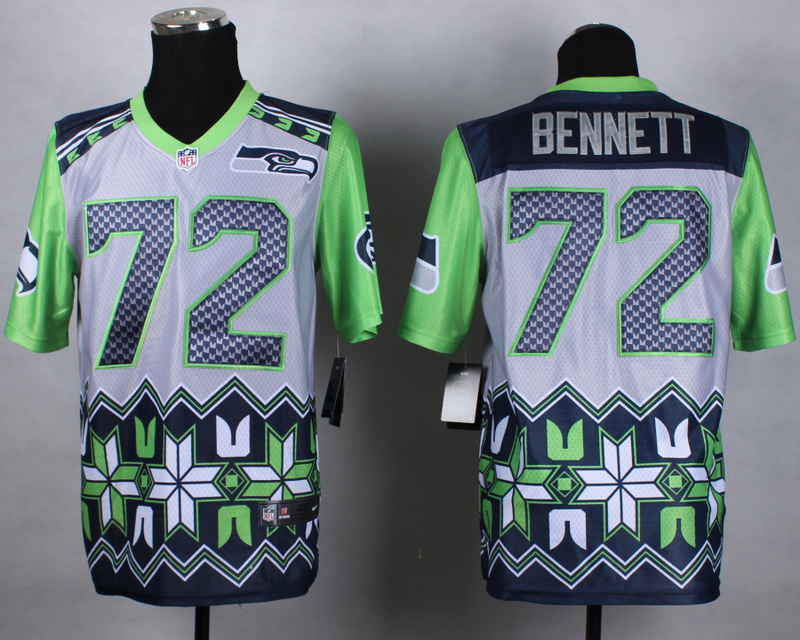 Nike Seahawks 72 Bennett Noble Elite Jerseys