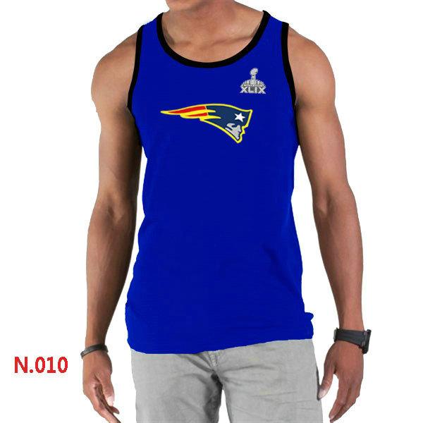 New England Patriots Big & Tall Primary Logo 2015 Super Bowl XLIX Blue Tank Top2