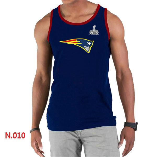 New England Patriots Big & Tall Primary Logo 2015 Super Bowl XLIX D.Blue Tank Top1