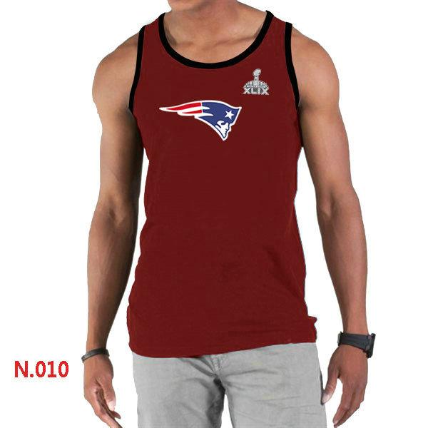 New England Patriots Big & Tall Primary Logo 2015 Super Bowl XLIX Red Tank Top1