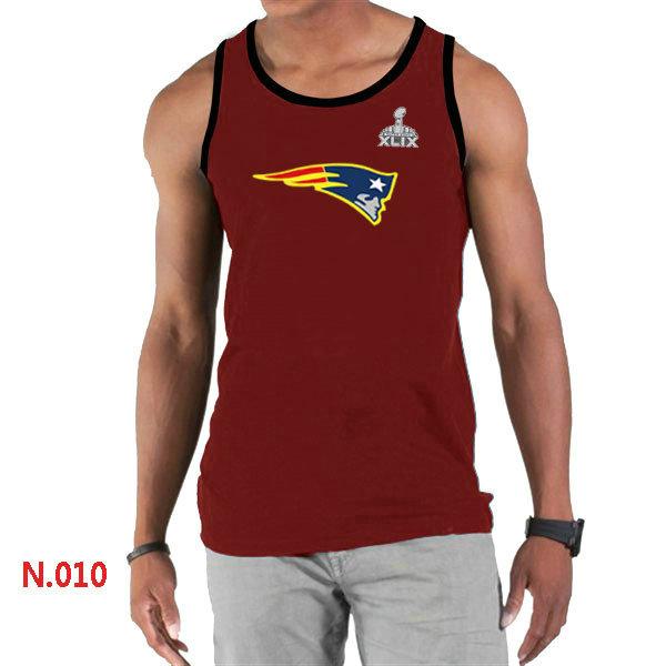 New England Patriots Big & Tall Primary Logo 2015 Super Bowl XLIX Red Tank Top2