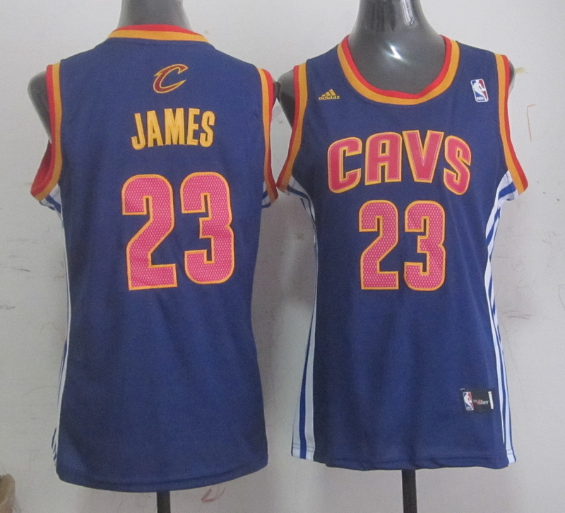 Cavaliers 23 James Blue Women Jersey
