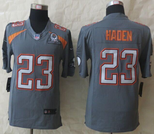 Nike Browns 23 Haden Grey 2015 Pro Bowl Elite Jerseys