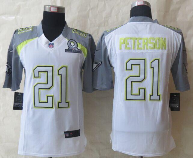 Nike Cardinals 21 Peterson White 2015 Pro Bowl Elite Jerseys