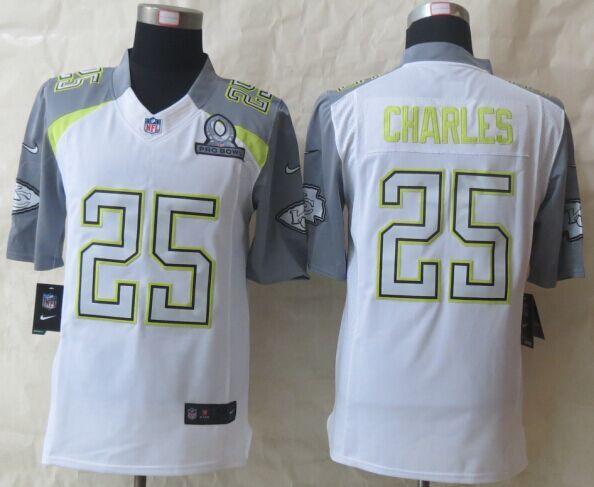 Nike Chiefs 25 Charles White 2015 Pro Bowl Elite Jerseys