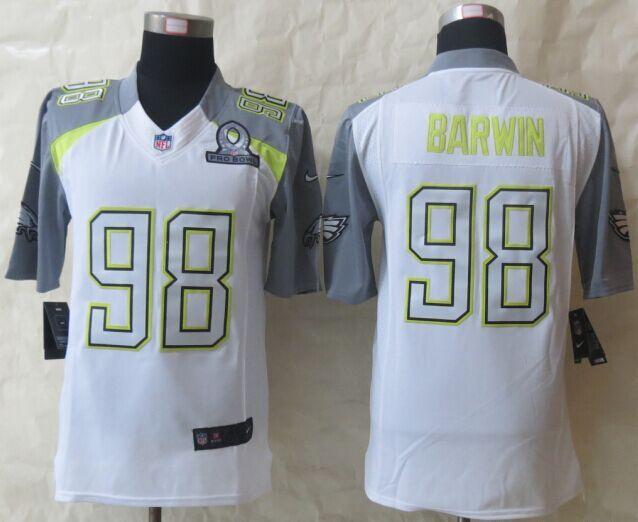 Nike Eagles 98 Barwin White 2015 Pro Bowl Elite Jerseys