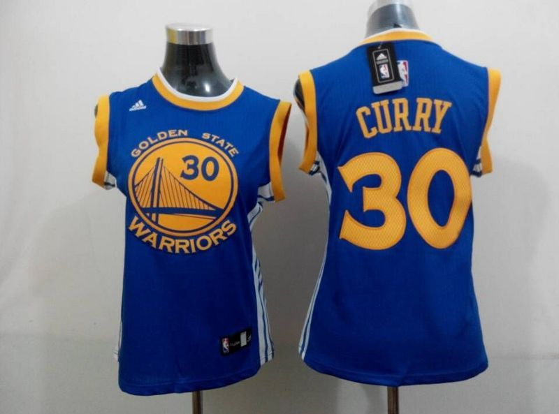 Warriors 30 Curry Blue Women Jersey