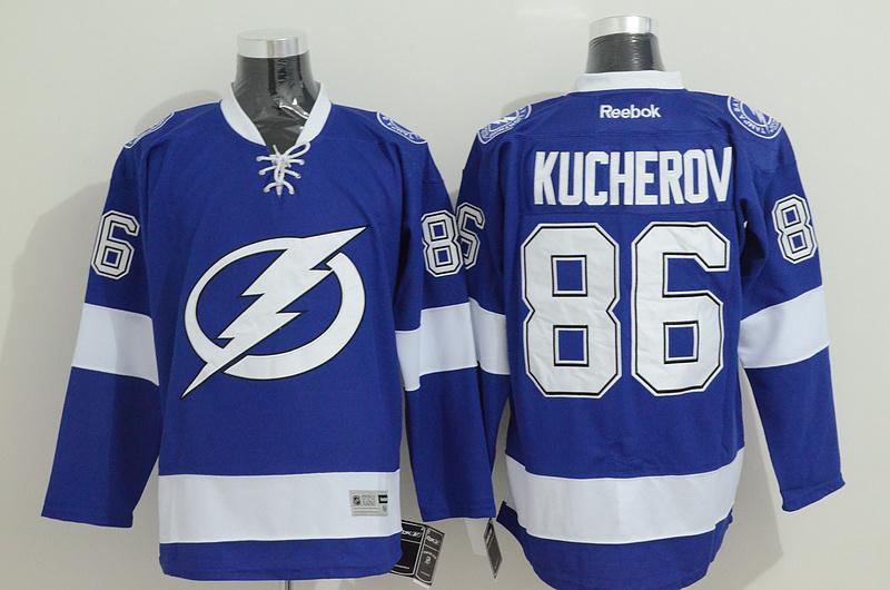 Lightning 86 Kucherov Blue Jerseys