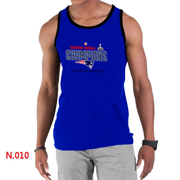 New England Patriots Majestic Blue Super Bowl XLIX Tank Top
