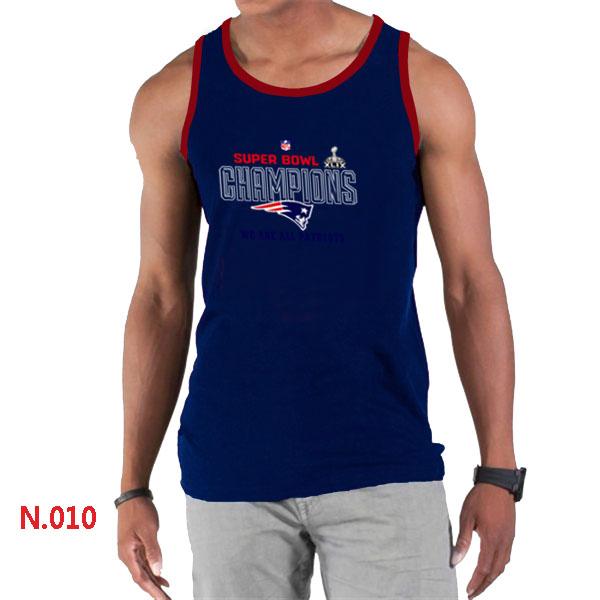 New England Patriots Majestic D.Blue Super Bowl XLIX Tank Top