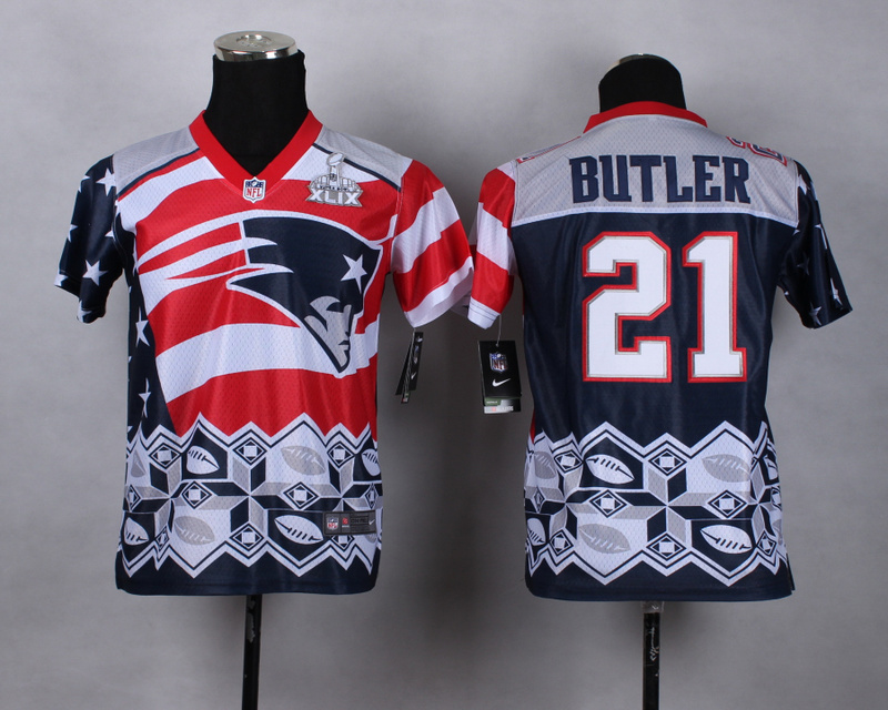 Nike Patriots 21 Butler Noble Fashion 2015 Super Bowl XLIX Youth Jerseys