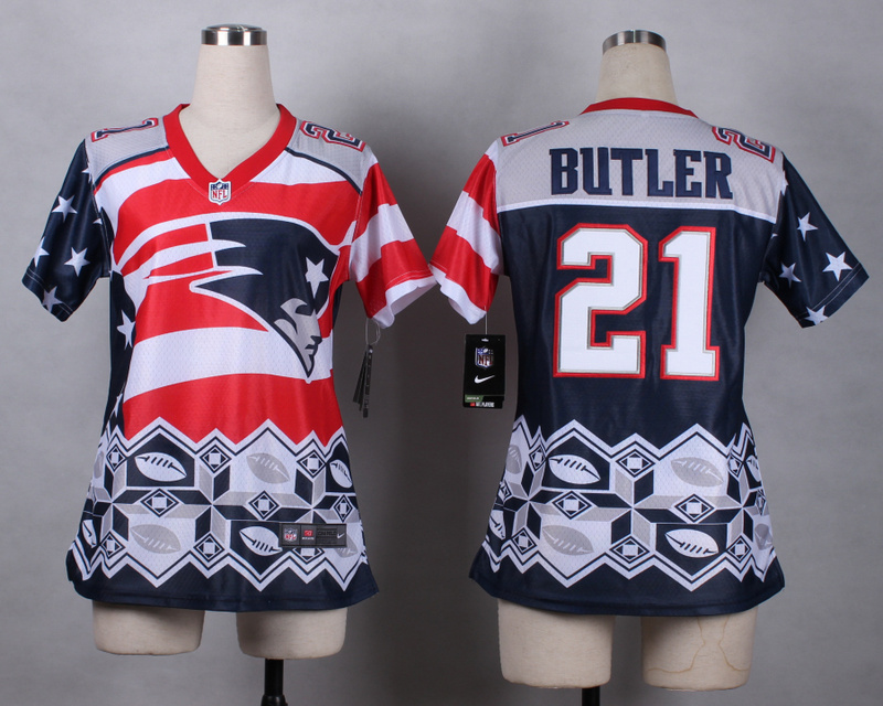 Nike Patriots 21 Butler Noble Fashion Women Jerseys