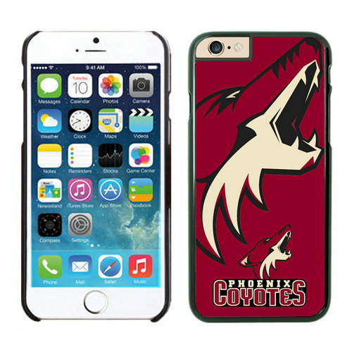 Phoenix Coyotes iPhone 6 Cases Black