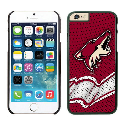 Phoenix Coyotes iPhone 6 Cases Black04