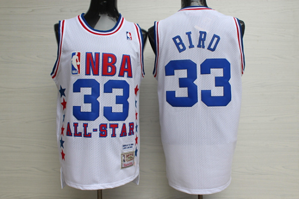 1990 All Star 33 Larry Bird White Hardwood Classics Jersey
