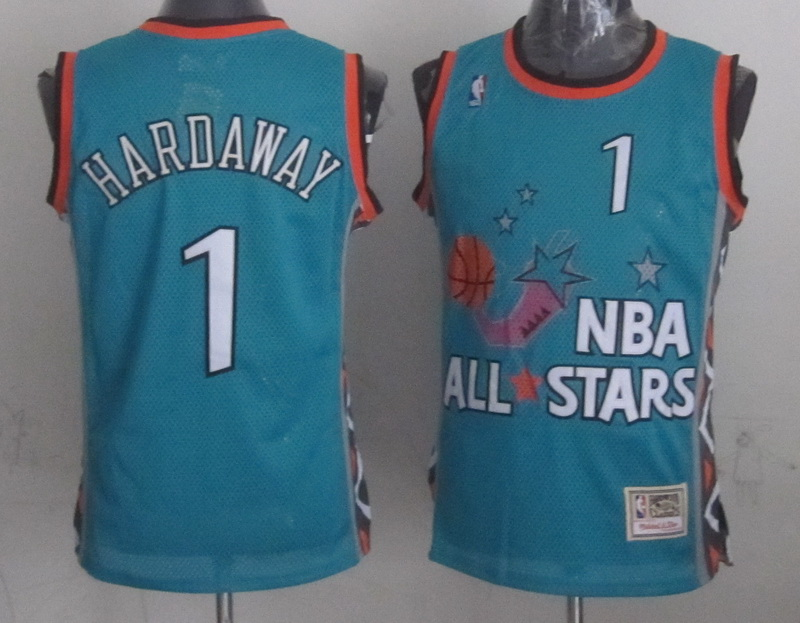 1996 All Star 1 Hardaway Teal Jerseys